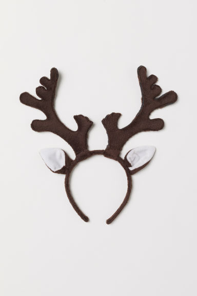 Hairband with Appliqués - Dark brown/reindeer - Kids | H&M CA