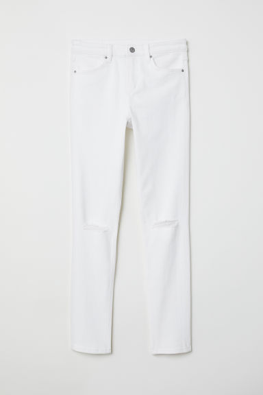 Skinny Regular Ripped Jeans - Bianco -  | H&M IT