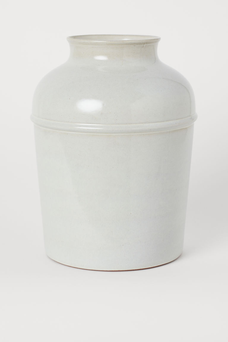 Large earthenware vase - White - Home All | H&M GB