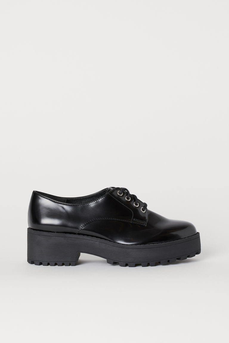 Platform Derby Shoes - Black - Ladies | H&M CA