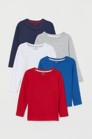 5-pack cotton jersey topsModel