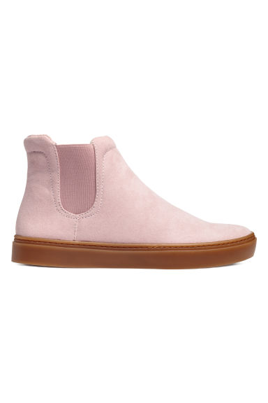 Ankle boots with elastic gores - Powder pink - Ladies | H&M CN