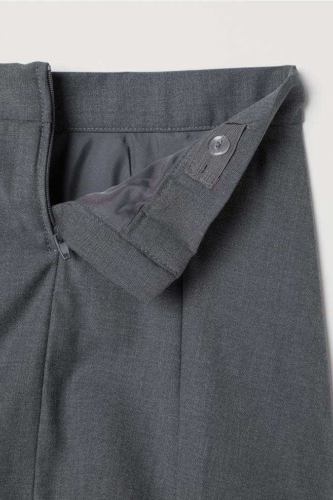 77e39f3358 ... Pleated skirt - Dark grey - Kids | H&M ...