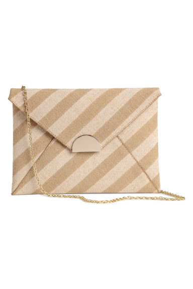 Clutch in tela - Beige/righe -  | H&M IT