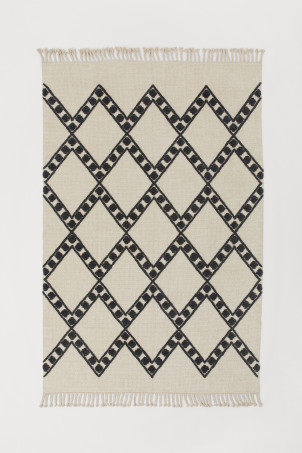 Patterned wool-blend rug