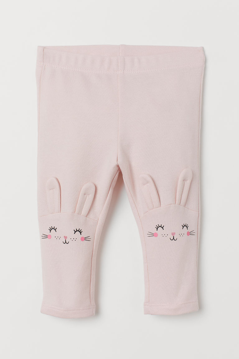 Leggings med applikationer - Ljusrosa/Kaniner - BARN | H&M FI