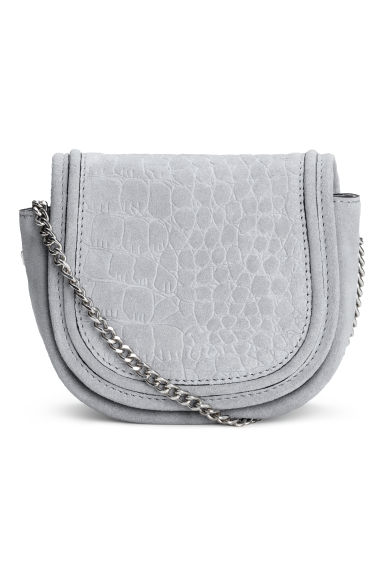 Suede shoulder bag - Light grey - Ladies | H&M CN