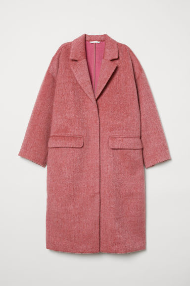Knee-length coat - Light red - Ladies | H&M GB