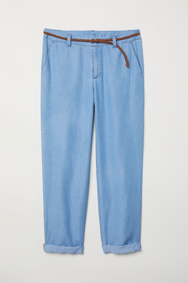 Lyocell-blend chinos - Light blue - Ladies | H&M