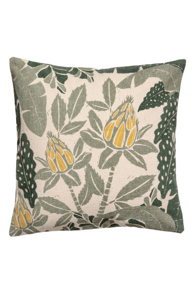 Patterned cushion cover - Natural white/Patterned -  | H&M GB