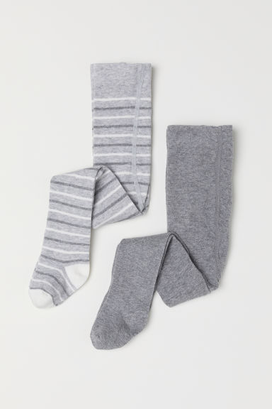 2-pack tights - Grey marl/Bear - Kids | H&M