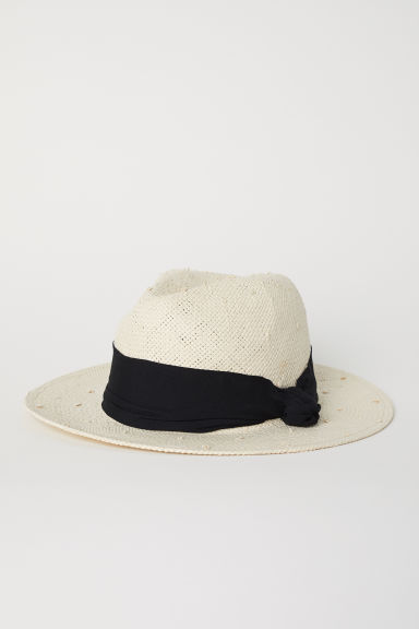 Straw hat - Natural - Ladies | H&M CN