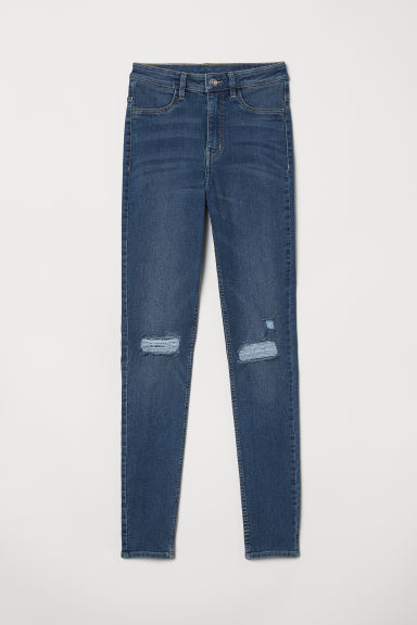 Super Skinny High Jeans - Donker denimblauw - DAMES | H&M BE