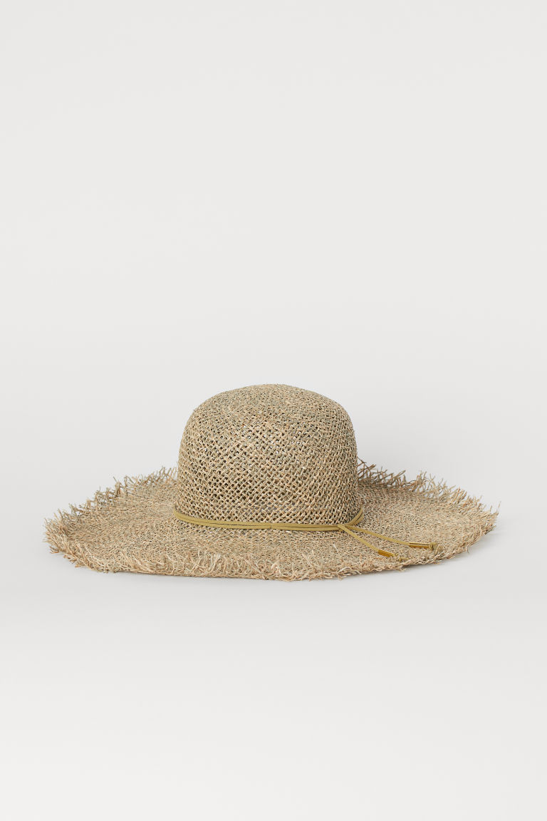 Straw Sun Hat - Beige - Ladies | H&M US