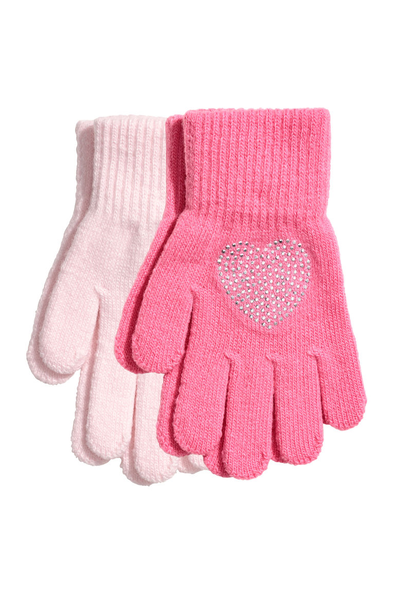2-pack gloves - Pink - Kids | H&M GB