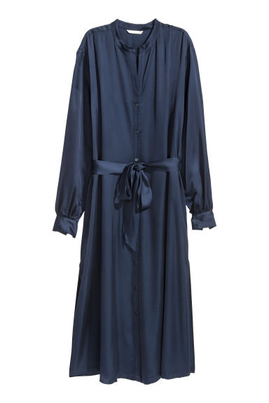 Long shirt dress - Dark blue - Ladies | H&M