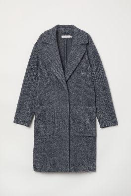 Pletený kabát z vlněné směsi fc484e2563