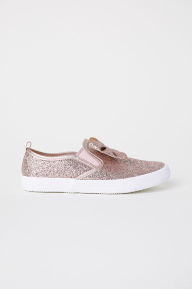 Slip-on trainers - Light pink/Glitter -  | H&M