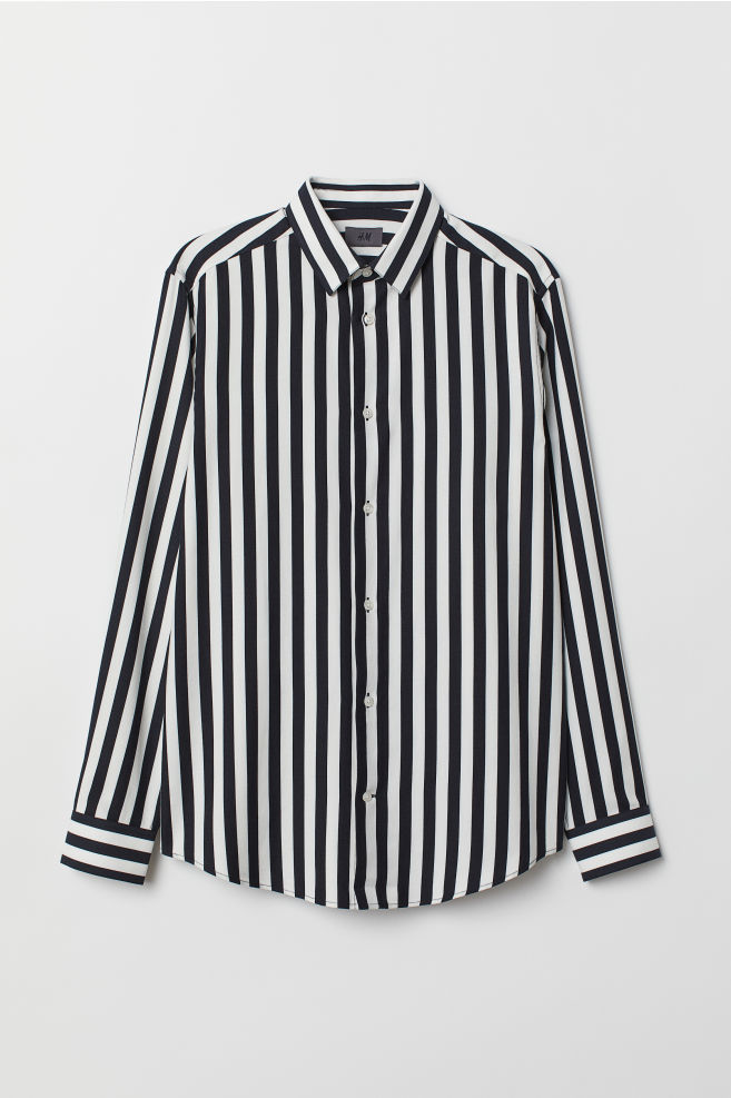 c34b8be90acd Striped Shirt - White/black striped - Men | H&M ...