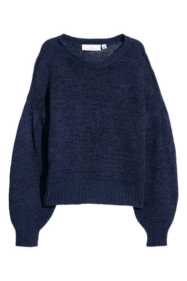 Loose-knit jumper - Dark blue - Ladies | H&M