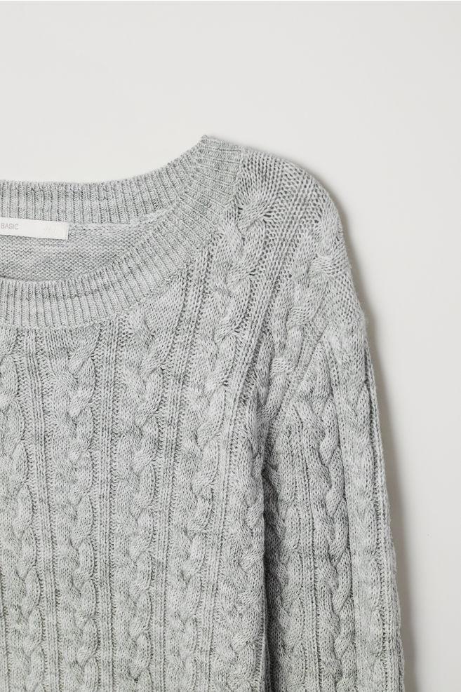 45e98c4bd Cable-knit jumper - Grey marl - Ladies