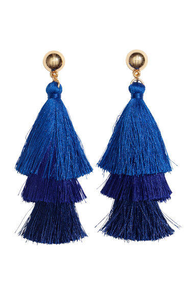 Tasselled earrings - Cornflower blue - Ladies | H&M