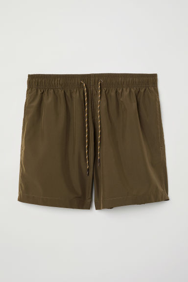Swim shorts - Dark khaki green - Men | H&M
