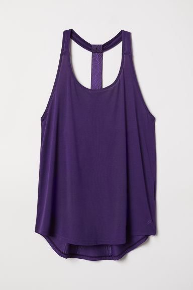 Sports vest top - Purple -  | H&M GB