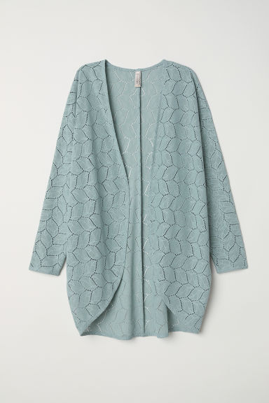 Lace cardigan - Dusky green - Ladies | H&M CN