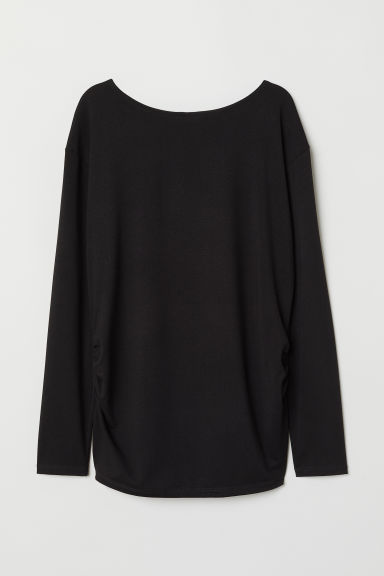 MAMA Jersey top - Black - Ladies | H&M CN