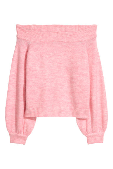 Off-the-shoulder jumper - Pink -  | H&M CN