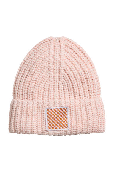 Knitted hat - Pink - Ladies | H&M CN