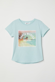Generous fit printed T-shirt