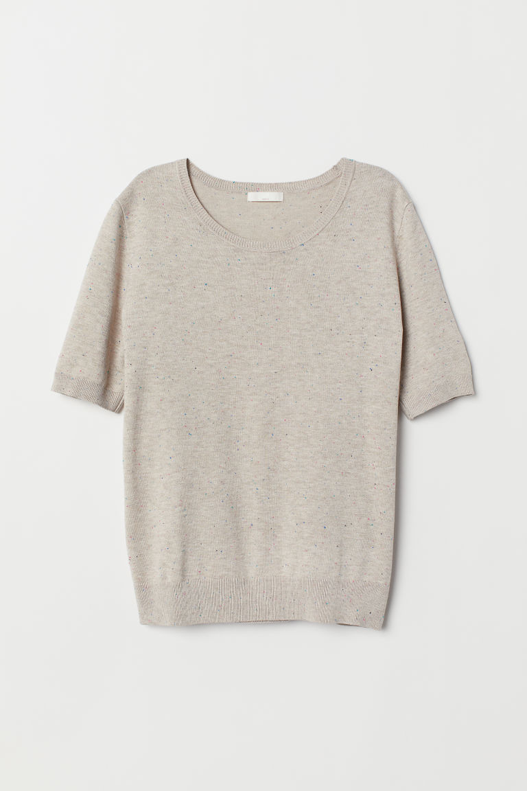 Fine-knit jumper - Light beige -  | H&M CN