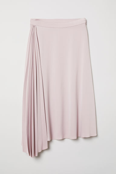 Pleated skirt - Light pink - Ladies | H&M CN