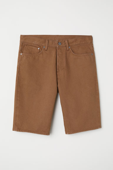 Straight Denim Shorts - Light brown -  | H&M CN
