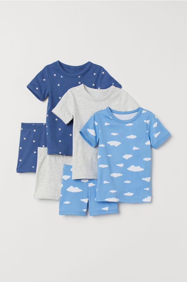 337f8aa98 Pack de 3 pijamas - Azul Estrellas - NIÑOS