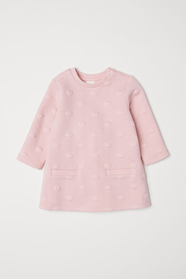 Textured dress - Light pink - Kids | H&M CN