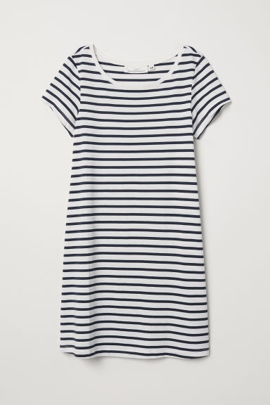 Modal-blend jersey dress - White/Striped - Ladies | H&M
