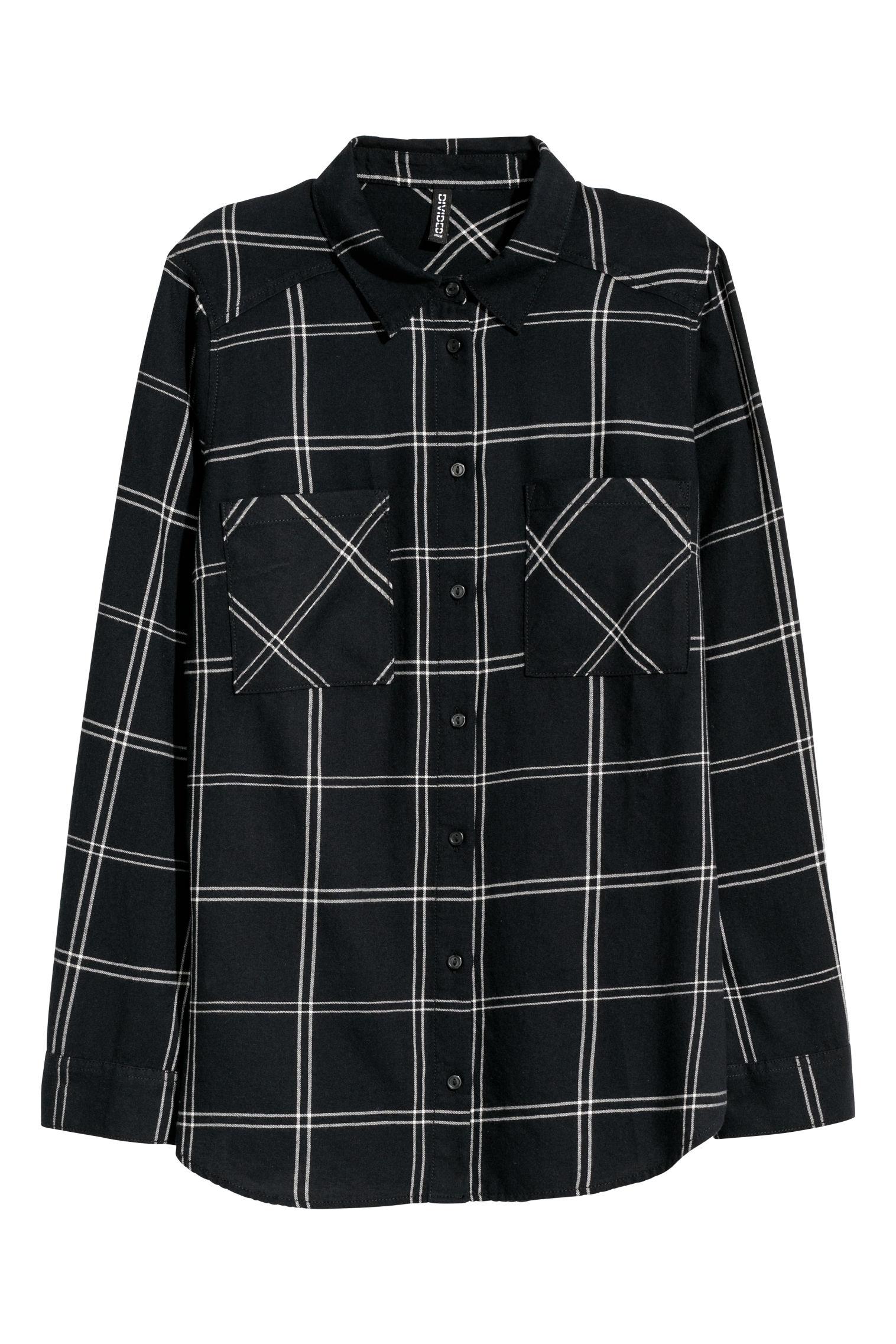 7da19411 Plaid Shirt - Black/plaid -   H&M CA