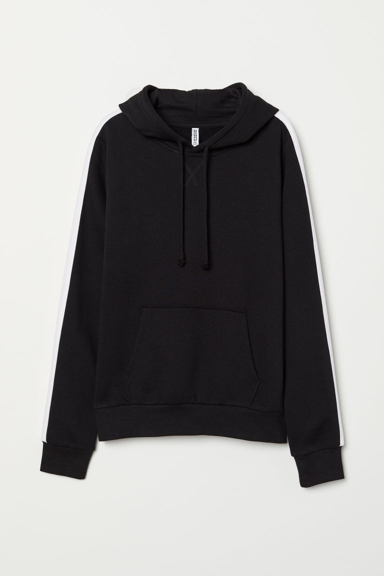 Hooded top - Black/White - Ladies | H&M CN