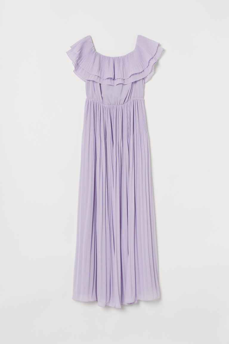 Pleated long dress - Light purple - Ladies | H&M