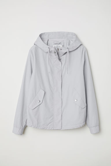 Pima cotton jacket - Light grey - Ladies | H&M