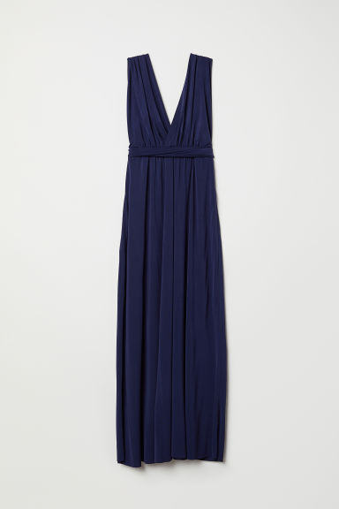 Multiway long dress - Dark blue - Ladies | H&M CN