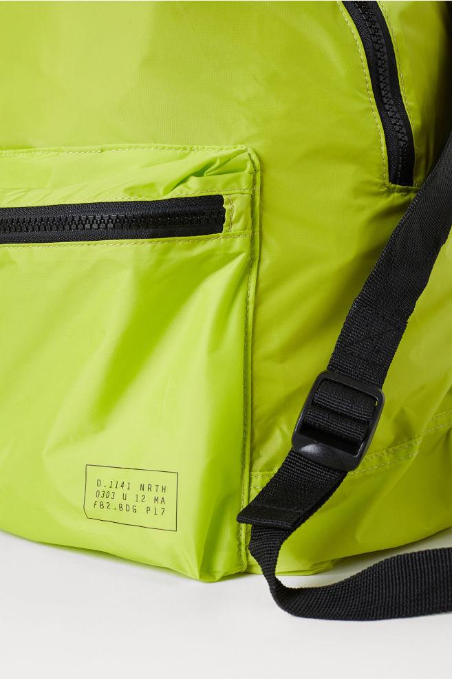 b3682cbcb38 ... Foldable Backpack - Neon green - Men | H&M ...