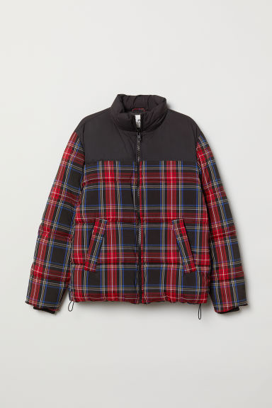 Padded jacket - Red/Checked -  | H&M CN