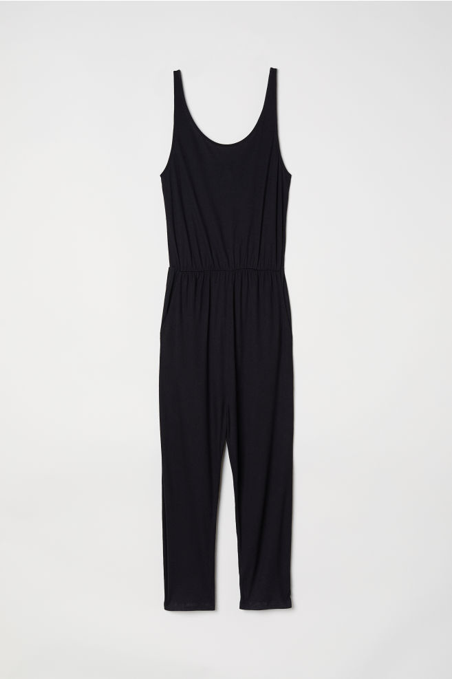 86d8f63bfee4 Sleeveless jumpsuit - Black - Ladies