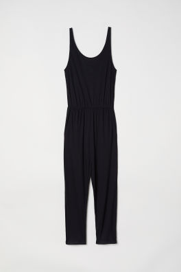 82b6a5ae0e0 Sleeveless Jumpsuit.  17.99. Black