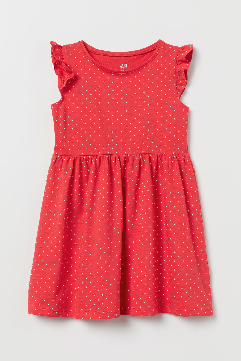 Jersey dress - Red/White spotted - Kids | H&M