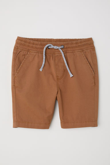 Twill shorts - Brown -  | H&M CN